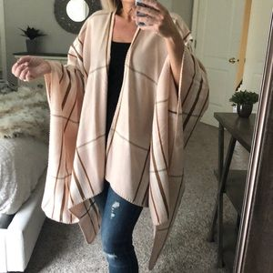 Pink and rust plaid wrap